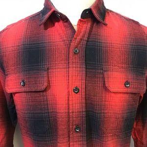 Woolrich Buffalo Plaid Campfire Flannel Shirt Sz M
